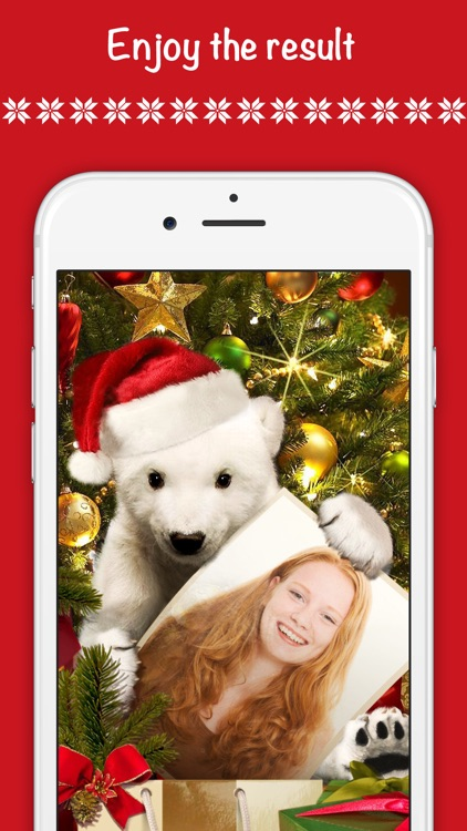 Christmas wallpaper, fun photo frames & Santa hat screenshot-4