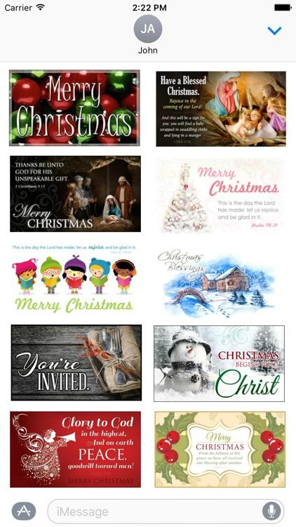 Christmas 2016 Stickers - Christmas Postcards