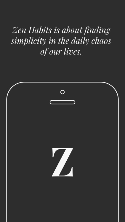 Zen Habits - Simplicity by Leo Babauta screenshot-0