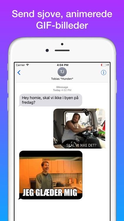 Dansk GIF- og Meme-Tastatur (Sjove Memes og GIFs) screenshot-0