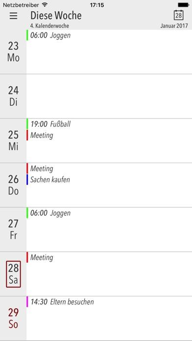 Cali - Die Kalender AppScreenshot von 1