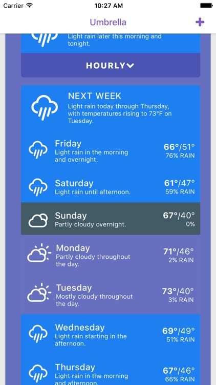 Umbrella: Simple Weather App screenshot-3