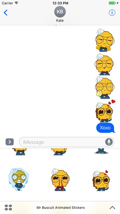 Mr. Biscuit Animated Stickers For iMessage screenshot-3