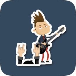Animated Guitarist Stickers for Messaging