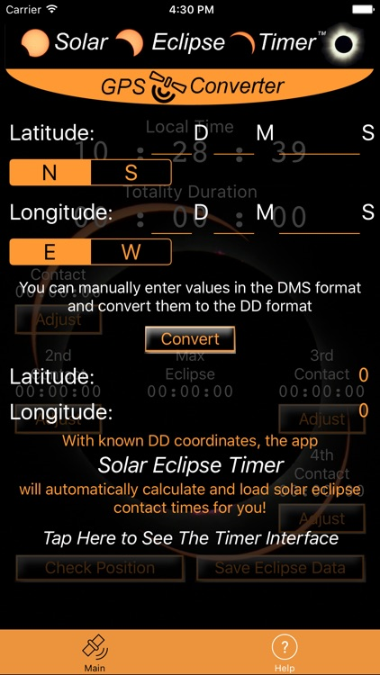 Solar Eclipse Timer GPS Converter screenshot-0