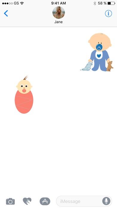 Babys sieben StickerpackScreenshot von 2