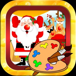 Snowman and merry christmas picture coloring book