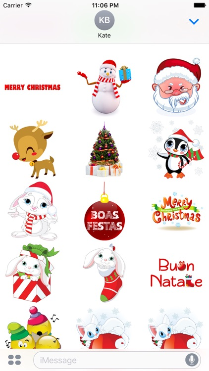 Sweet Christmas Stickers for iMessage