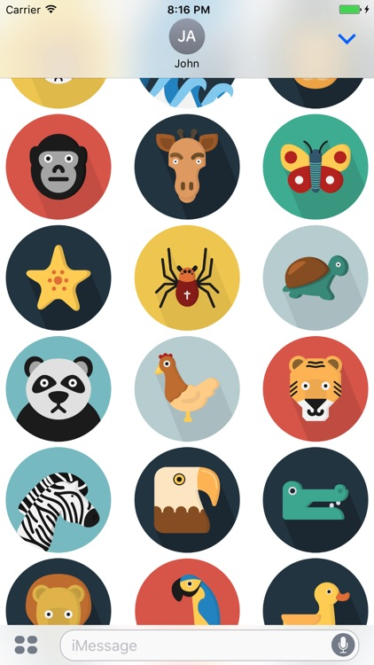 Flatimals - Flat Animal Sticker Pack for iMessage