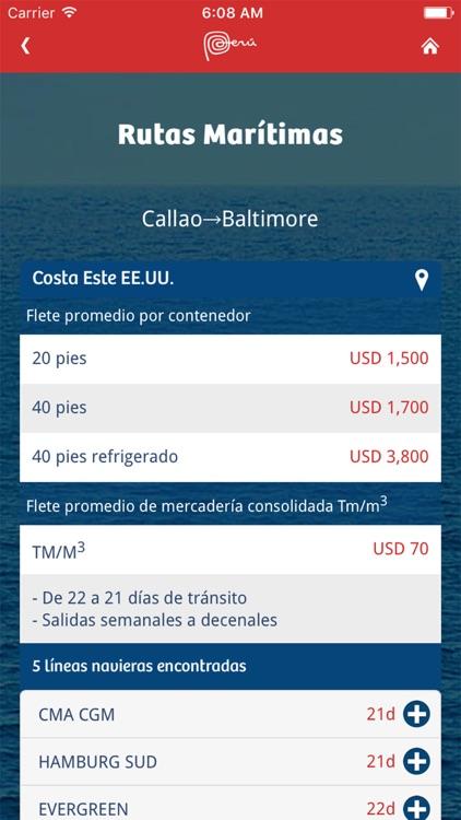 SIICEX Rutas Maritimas app image