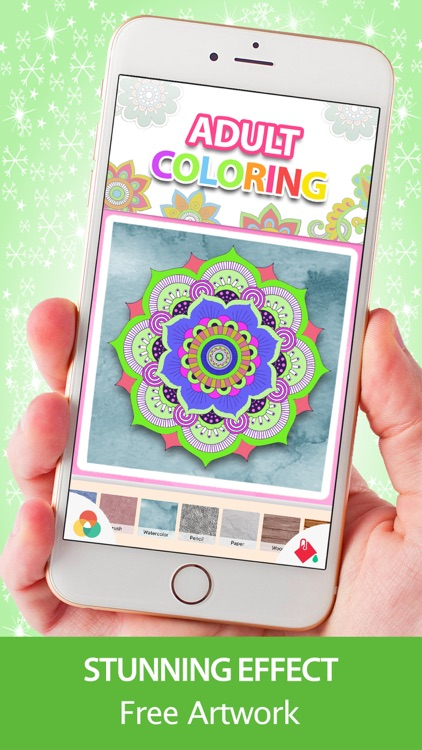 Adult Coloring Book - Mandala Pigment Color Pages