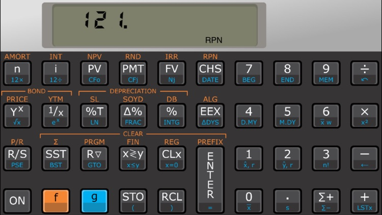 Touch Fin Palladium RPN financial calculator