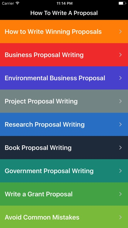 How To Write a Proposal