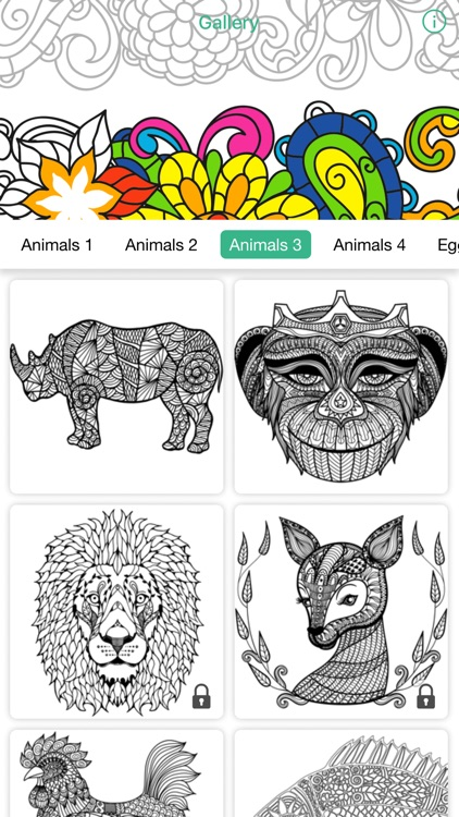 adult color anti stress therapy coloring book screenshot-3