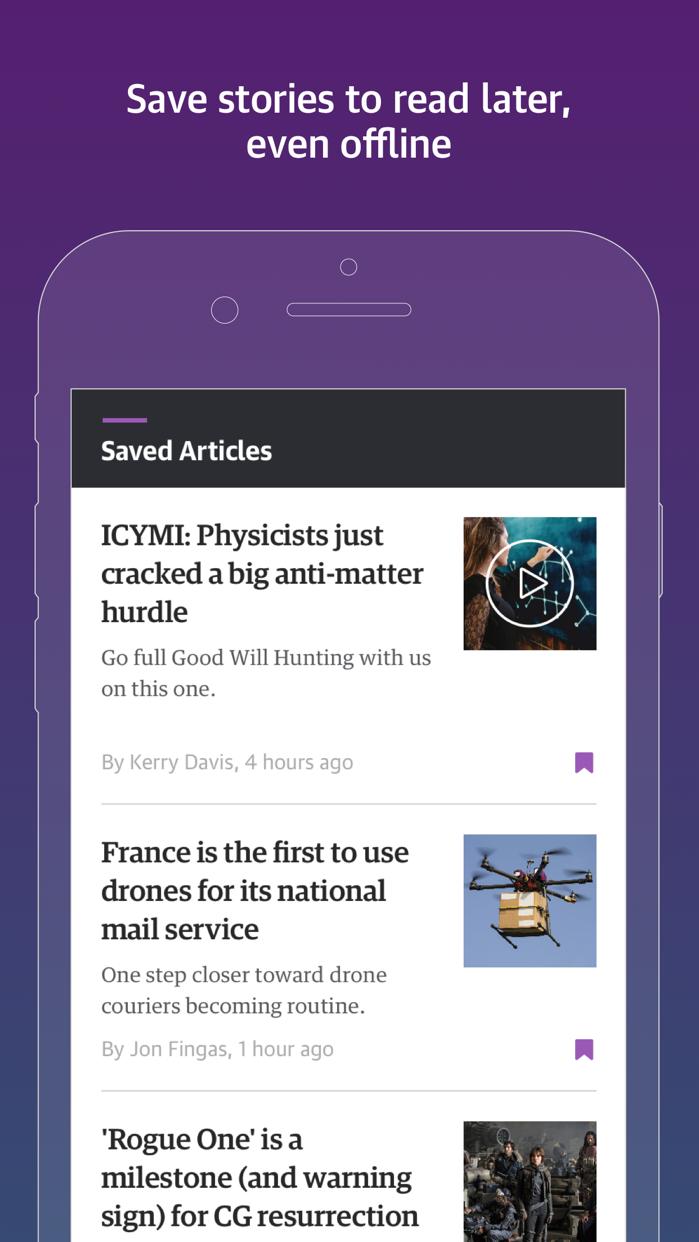 Engadget: Technology, Features Screenshot