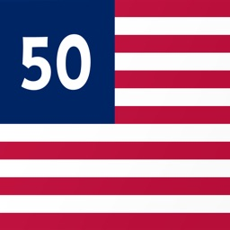 Fifty Flags - Animated USA state flag stickers