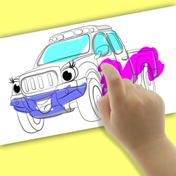 Speed Car Coloring Book Games For Kids