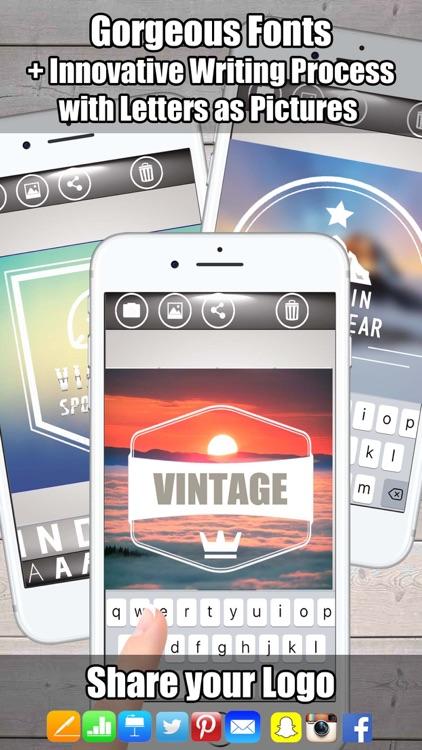 Logo Vintage Design - Logo Maker & Logo Creator screenshot-4