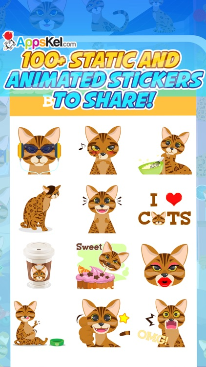 Bengalmoji – Bengal Cats Emoji & Stickers Pro screenshot-1