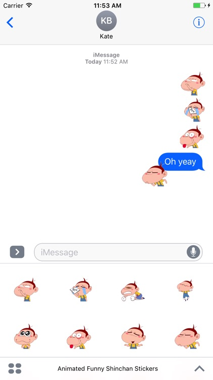 Animated Funny Face Stickers For iMessage screenshot-3