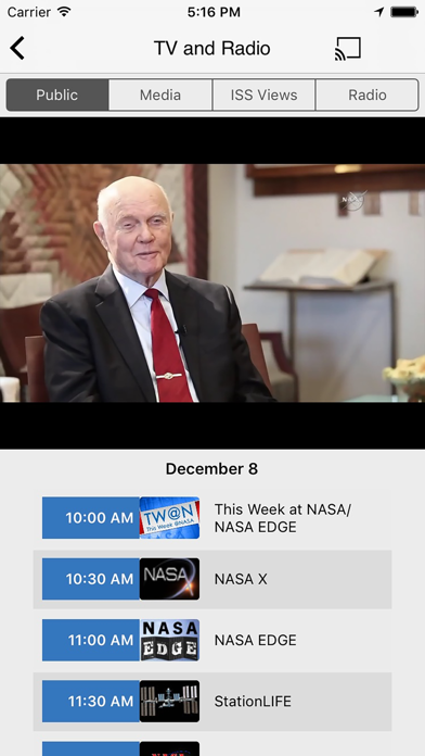 Screenshot 2 for NASA.gov's iPhone app'
