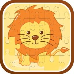The lion cartoon jigsaw puzzle games