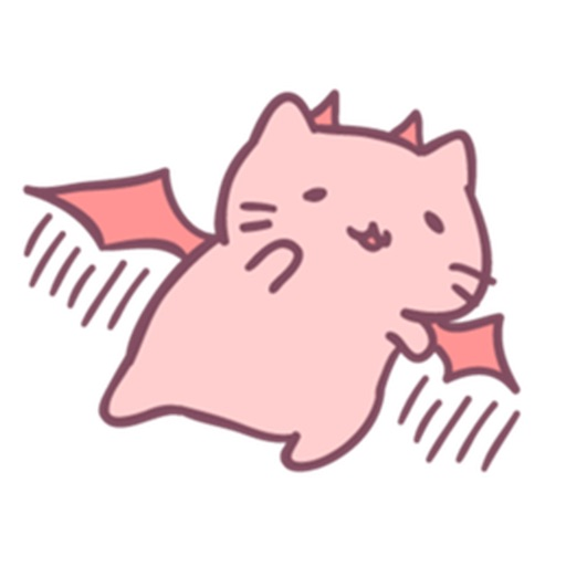 Nancy Pink Cat Stickers icon