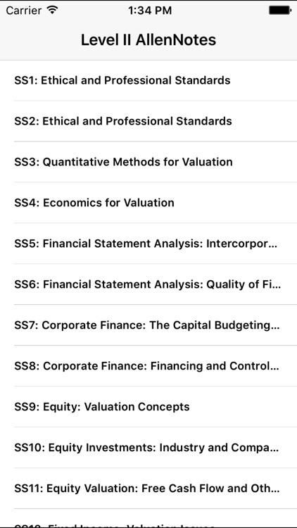 L2 CFA® Exam Notes