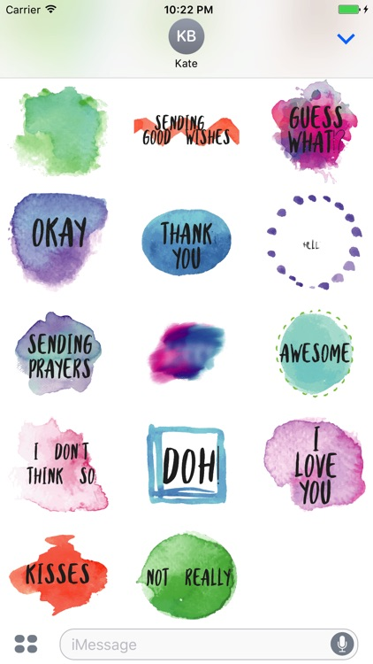 Animated Watercolor Words Text Sticker screenshot-3