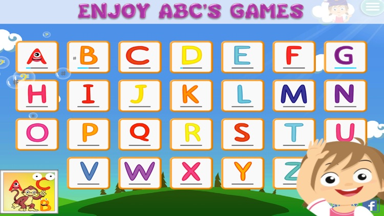 Alphabet Abc's game for kids Tracing, Coloring