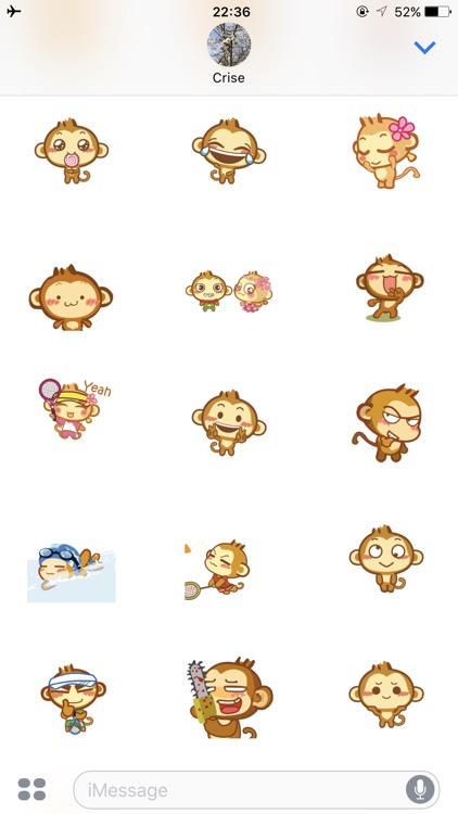 Monkeymoji Stickers for imessages screenshot-4