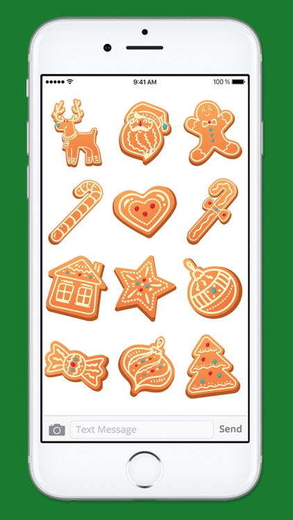 Gingerbread Cookies Holiday Sticker Pack 1