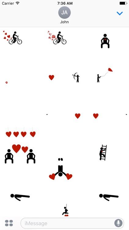 Valentines Silly Stickmen