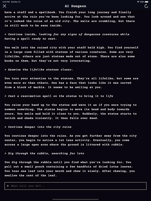AI Dungeon screenshot #2