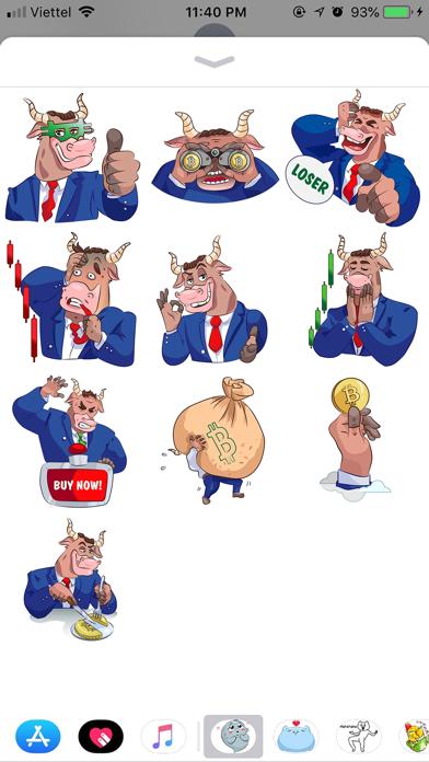 Rich Bull Emoji Stickers screenshot 1
