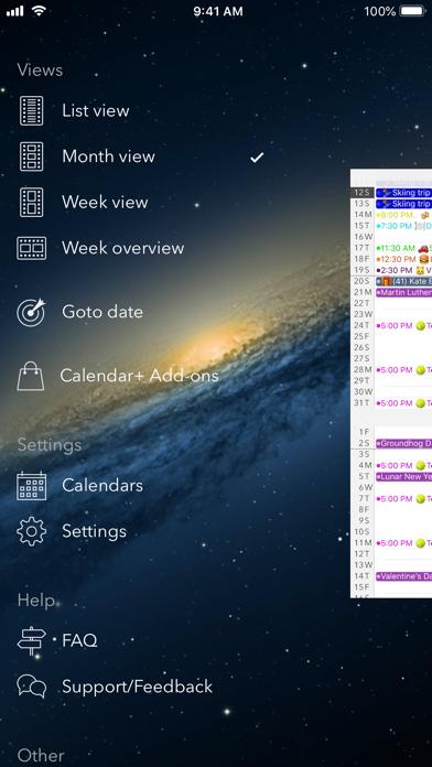 Calendar review screenshots
