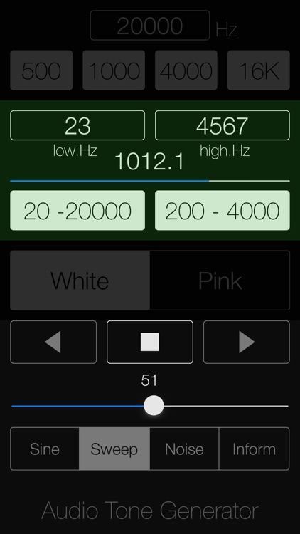 Audio Tone Generator Lite screenshot-3