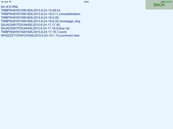 VIN ocr Screenshots