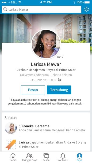 Screenshot for LinkedIn in Indonesia App Store