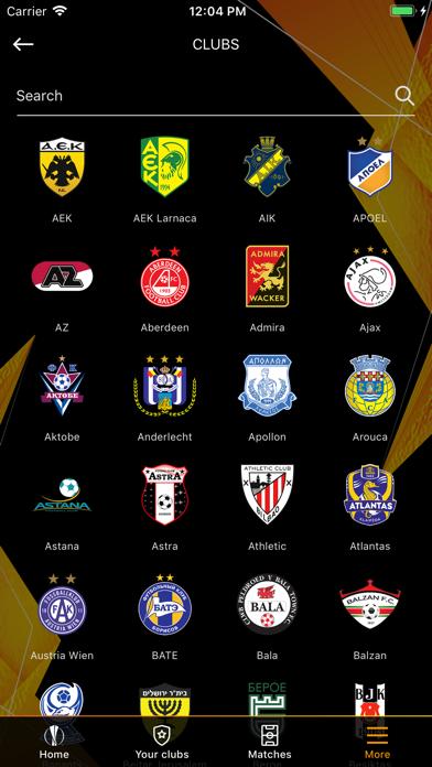 Screenshot #2 pour UEFA Europa League Officiel