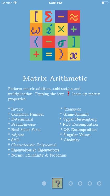 Matrix Numerics