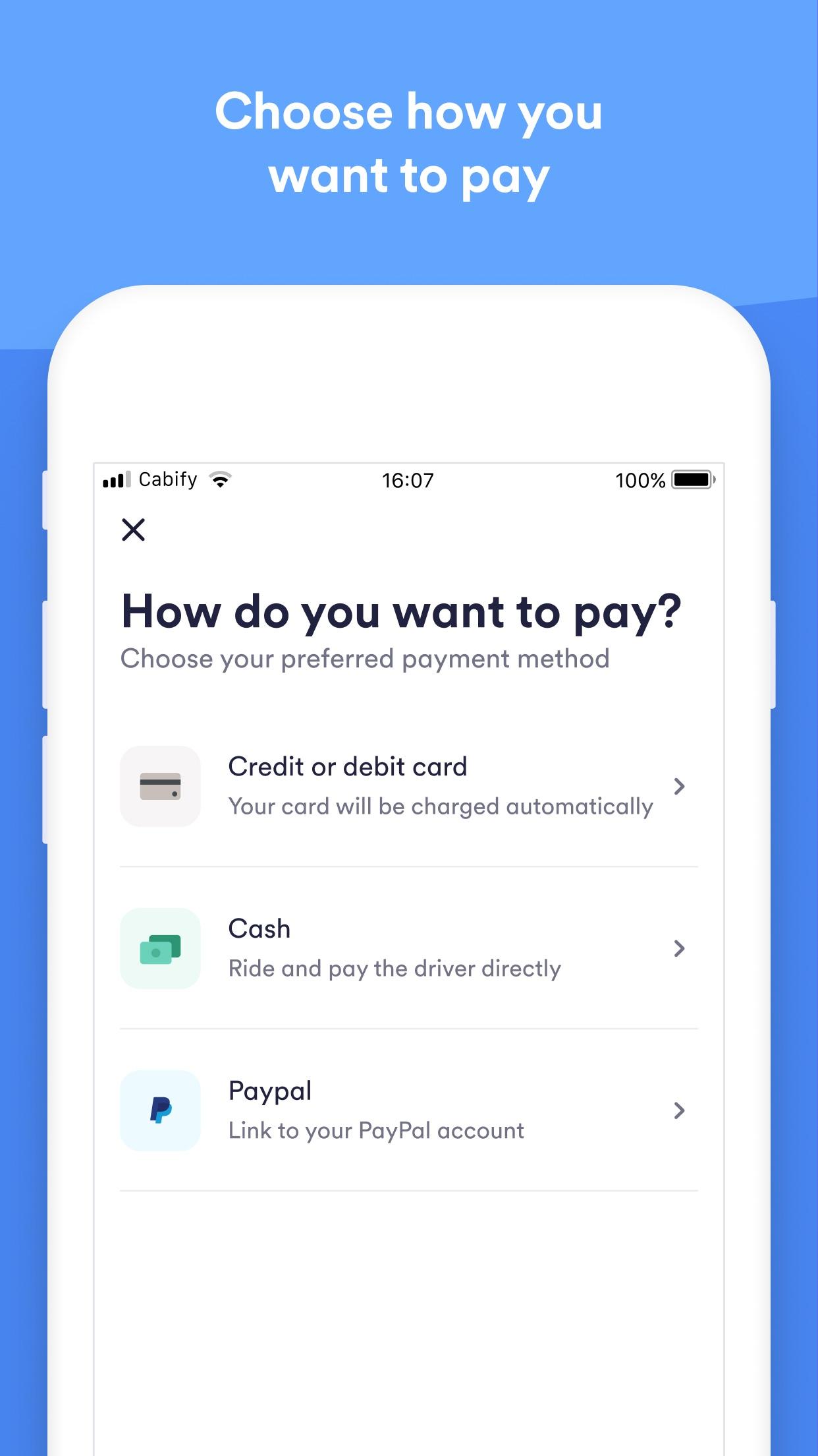 Cabify Screenshot