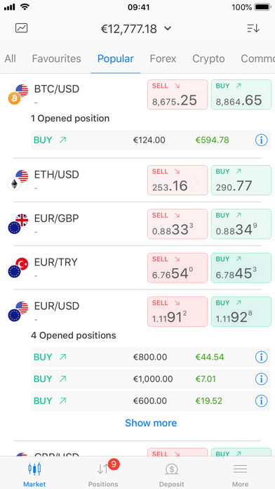BDSwiss Mobile Trading App screenshot two