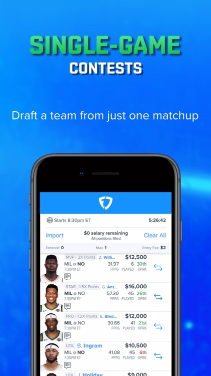 FanDuel - Daily Fantasy Sports screenshot-2
