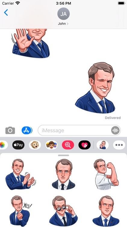 E. Macron Stickers screenshot-3