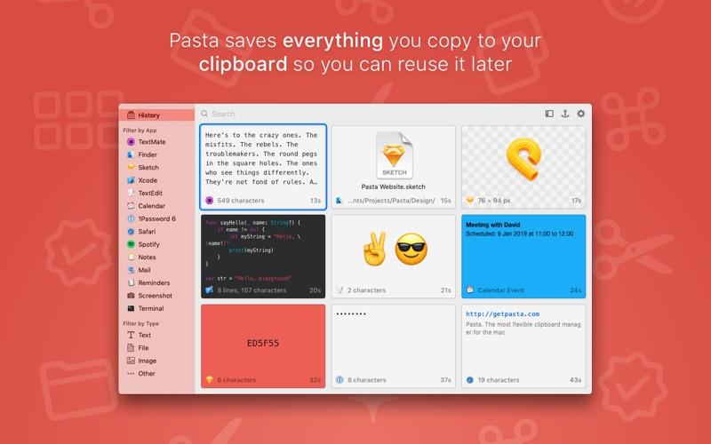 Pasta Screenshot