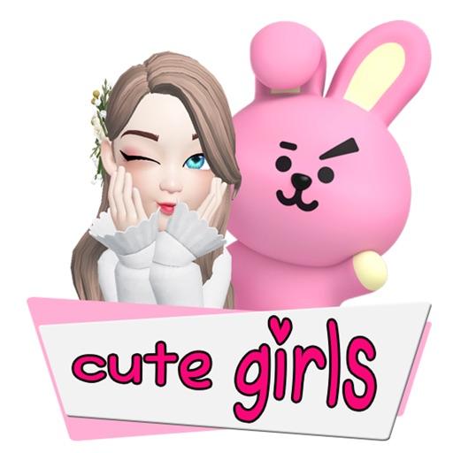 Stiker Cewe Cute Lucu