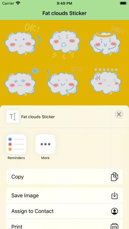 Fat clouds Sticker screenshot-3