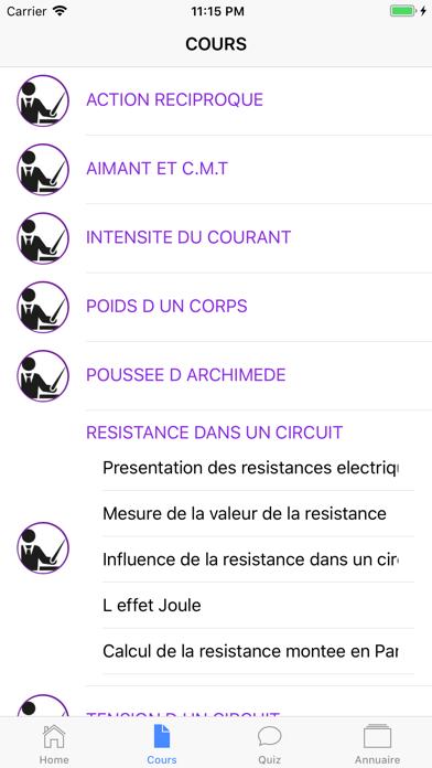 Physique 4ème screenshot 4