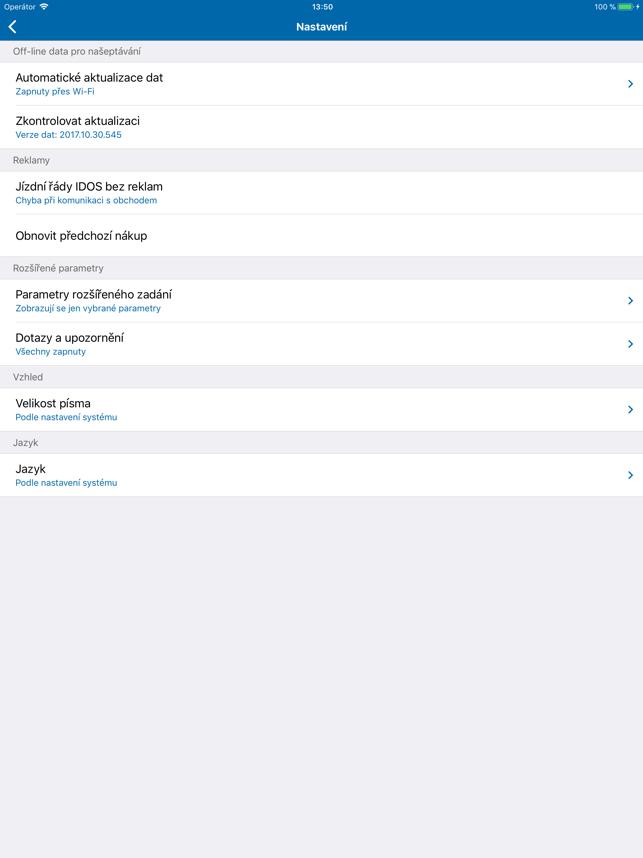 Jízdní řády IDOS Screenshot
